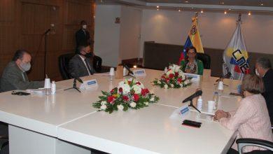 Reunión en la sede del CNE