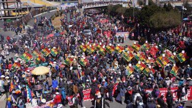 Manifestaciones en Bolivia