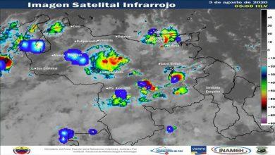 Inameh pronostica lluvias en Venezuela