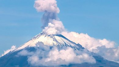 Photo of México: volcán Popocatépetl expulsa gas y cenizas a 600 metros de altura (+Video)