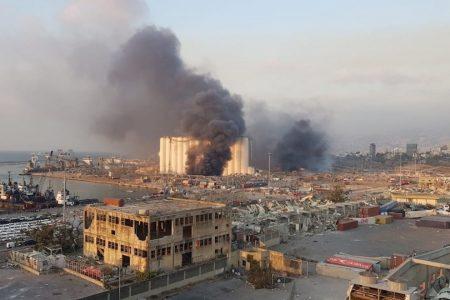 Beirut severamente afectada por la explosión