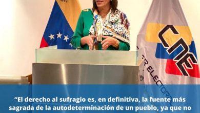 Presidenta del CNE, Indira Alfonzo