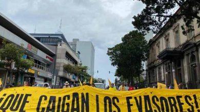Siguen protestas en Costa Rica contra políticas económicas del gobierno
