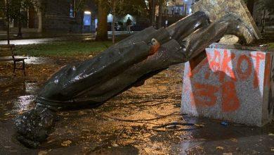 Manifestantes en Portland derribaron estatua de Abraham Lincoln