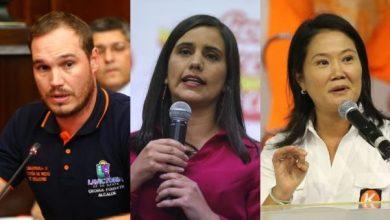 Los tres dirigentes políticos que lideran encuestas en Perú