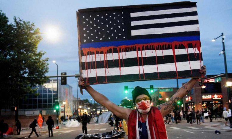 Imagen referencial de protestas en EEUU