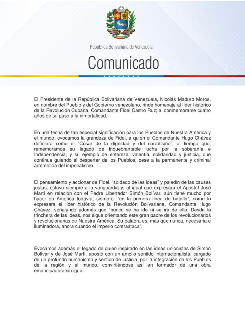 thumbnail of Venezuela-conmemora-los-cuatro-años-de-la-siembra-histórica-del-líder-de-la-Revolución-Cubana-el-Comandante-Fidel-Castro