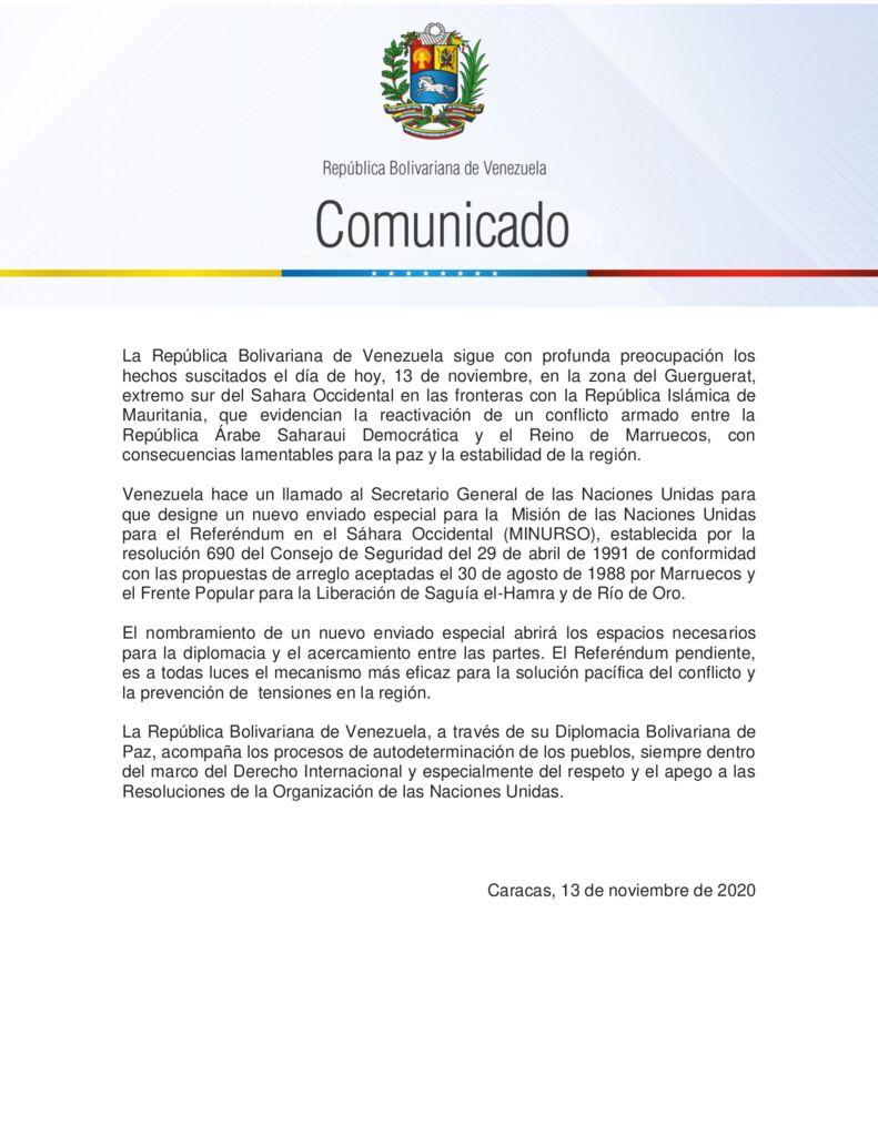 thumbnail of Venezuela-insta-a-la-ONU-a-nombrar-nuevo-enviado-especial-ante-conflicto-armado-entre-la-República-Árabe-Sharaui-Democrática-y-Marruecos