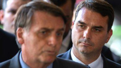 Flavi Bolsonaro y su padre el presidente de Brasil